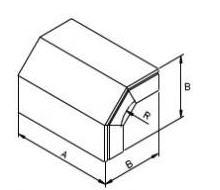Angulo concavo (ascendente) 100 mm